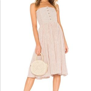 NWT Free People neutral combo strapless dress